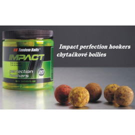 Boilies TANDEM BAITS Impact Perfection Hookers 18mm/250ml - MEDOVÝ SIRUP