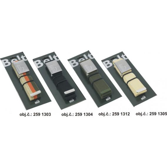 GEOFF opasek Multi Adjustable písková/stříbřitá