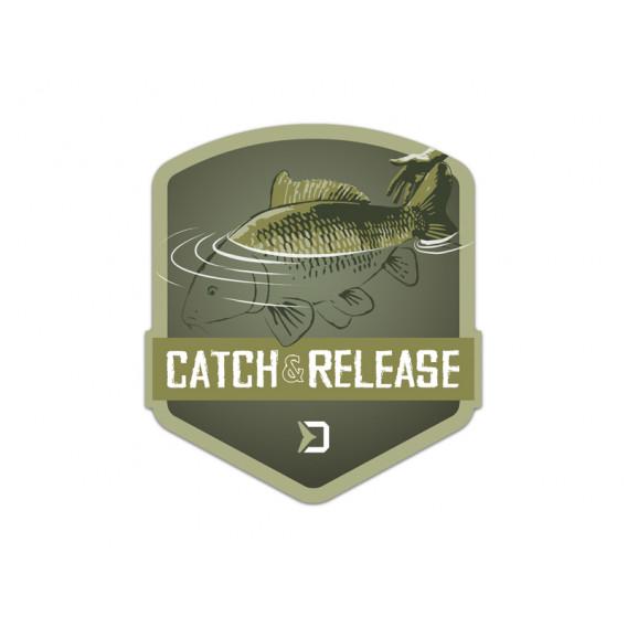 Nálepka Delphin CATCH and RELEASE-9x8cm