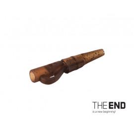 Závěsný PIN klip s gumičkou THE END / 10ks-G-ROUND
