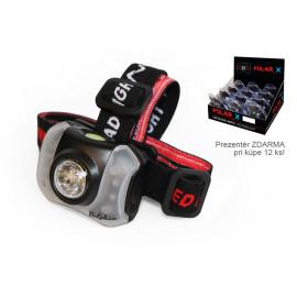Čelová lampa Delphin POLAR_X-5+4 LED