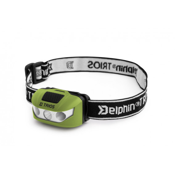 Čelová lampa Delphin TRIOS-1W